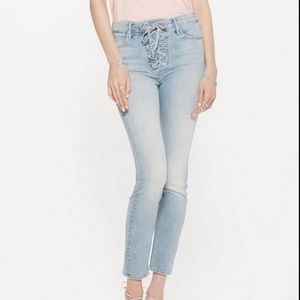Mother Lace Up Dazzler Jeans